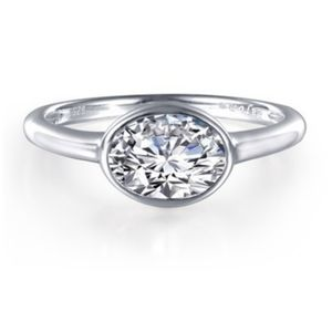 Oval Cut Simulated Diamond Ring